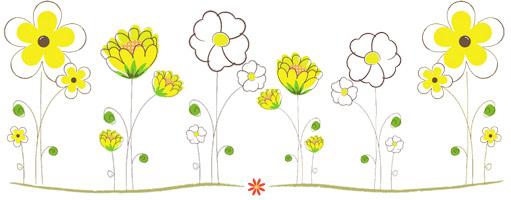 carte de souhaits - fleurs